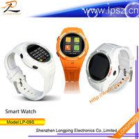 2014 bluetooth pedometer dual sim wrist watch mobile phone