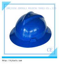 Ratchet V type construction work safety helmet