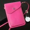 girl mini phone bag with shoulder strap, leather shoulder strap phone bag, phone pouch