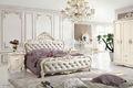 bianco camera da letto in legno 6008