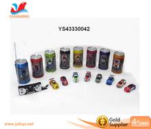 coke can mini rc car 1:63 4 channel remote control car