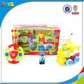 canal 2 tren de dibujos animados de plástico barato de tren juguetes de control remoto de coches juguetes