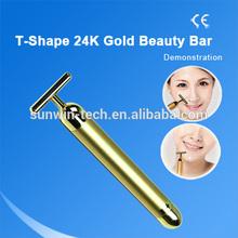 SW-57B 24K Gold Energy Vibrating Facial Massager Eliminate Wrinkle Pens