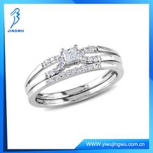 Fashion Wedding Ring Set , 925 Sterling Silver Diamond Ring