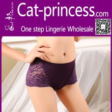 high quality cotton fabric royal purple ladies underwear wholesale
