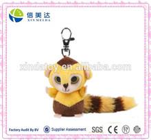 Capuchin monkey keychain plush toy