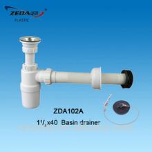 Plastic kitchen sink basin drainer, Siphon bottle trap