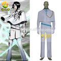 Quente desenho animado Anime Cos roupas Bleach Uryuu Ishida homens traje Cosplay roupas festa de Halloween