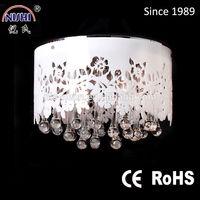 2014 hot sale modern design white crystal led ceiling light 120160