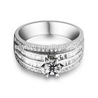 White Gold Zircon Man Wedding Diamond Ring FQ-9041