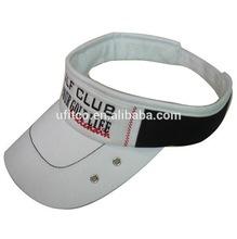 2015 high quality 100% Cotton foam high quality wholesale team embroidery logo custom sport golf sun visor