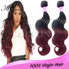 Large stock human hair weave burgundy remy hair extension