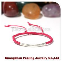 (PLL12007)Plain Design Elaborate Handmade Wax Rope Bracelet For Christmas Gift