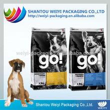Customized design pet food pvc zipper bag