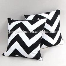 Bold Large Chevron Pillow Cover, Black and White big Zig Zag bold Chevron Pillow case