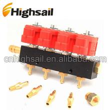 LPG CNG 4 Cylinder Injectors Rail