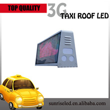 3G/wifi/GPS pantalla publicitaria para taxi/led taxi top advertising with diffenent size