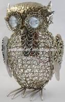 chunky owl iron craft decoration