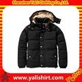 2014 nuevo estilo de invierno de poliéster resistente al agua a granel capucha desmontable acolchado imágenes de abrigos de los hombres