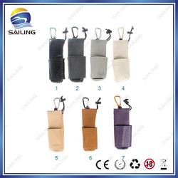 Sailing flannelette/zipper/leather mechanical mod carry pouch bag