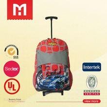 Customized designed ben 10 trolley school bag