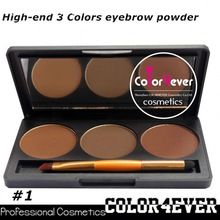 Professional eye makeup palettes 3color Makeup factory Eyeshadow&eyebrow Palette famous eyeshadow compact