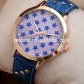 2014 novo design cor azul quartzo relógio que tira fotos