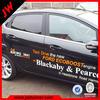 Good quality advertising white back car sticker uv resistant