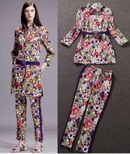 ladies fashion silk pants suit women's pants fashionable ladies clothes