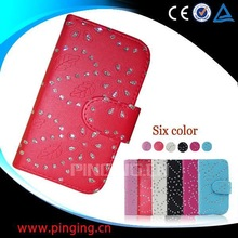 china supplier phone cases snow flower cover leather case for Nokia C3