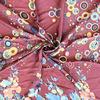 multi color floral printed polka dot design pleated chiffon fabric