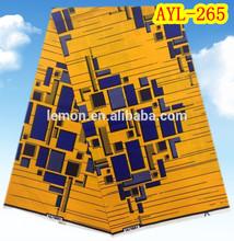 Nigerian style African real Dutch fabric Holland wax 6 Yards 100% Cotton AYL-265