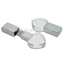 Crystal USB flash drive,crystal irregular good usb stick with led 3d logo,superior gift crystal usb