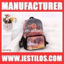 New fashion oxford school backpack bag for girl skull air brush bag wholesale GS-1
