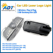 New LED Car door Led laser projector Logo Ghost Shadow Light For Porsche Cayenne