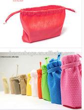 High capacity Portable Reusable Summer Beach Drawstring Shopping Bag