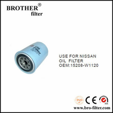 High quality OEM auto oil filter 15208W1120 for Nissan car hyundai oil filter