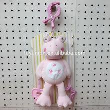 Funny intelligent toy animal plush, baby crib hanging soft toys