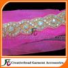 AB color stone gold plated wedding dress rhinestone appliques, beaded applique, crystal wedding sash trim