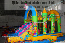2014 new fashion full priinting latest Clown inflatable/giant inflatable obstacle course
