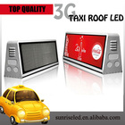 Sunrise Factory supply low price and best quality 12V semi-outdoor mini taxi led display