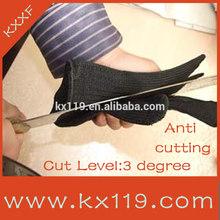 Black cut resist Anti-scratch knife Aramid cut resistance glove