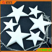 New Design Motif string light plastic christmas led star light