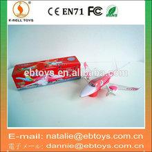 Plastic cartoon B/O bump&go toy plane with light and music