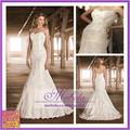 Real imagem com véu 2015 New Arrival vestidos De Noiva deslumbrante sereia surpreendente Lace vestidos De Noiva Vestido De Noiva De alta qualidade