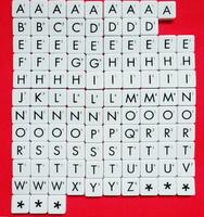 110pcs English vintage letter plastic scrabble game tiles