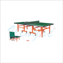 Outdoor single folding movable table tennis table for kids and adults