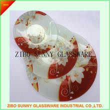 Round Glass Dinner Plates Set of 3pcs