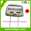 2014 Touch Screen 3g Android 9 Video taxi headrest advertising