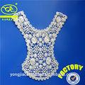 nuevo diseño de bordado de encaje de cuello blusa de modelos